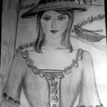 A Lady with Hat - By Divya Sasidharan