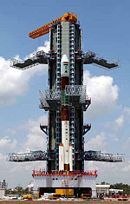 An earlier PSLV on its launch pad