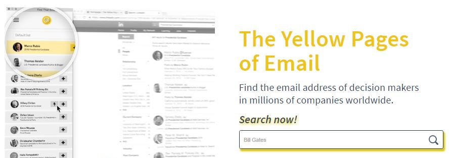 findthat.email - The Yellow Pages of Email