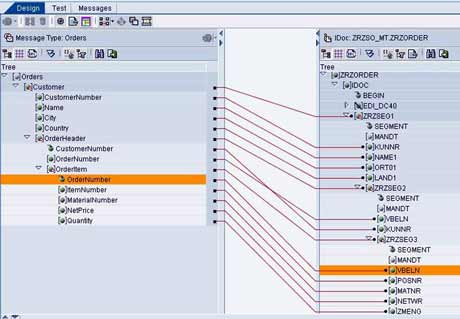 SAP XI - Message Mapping